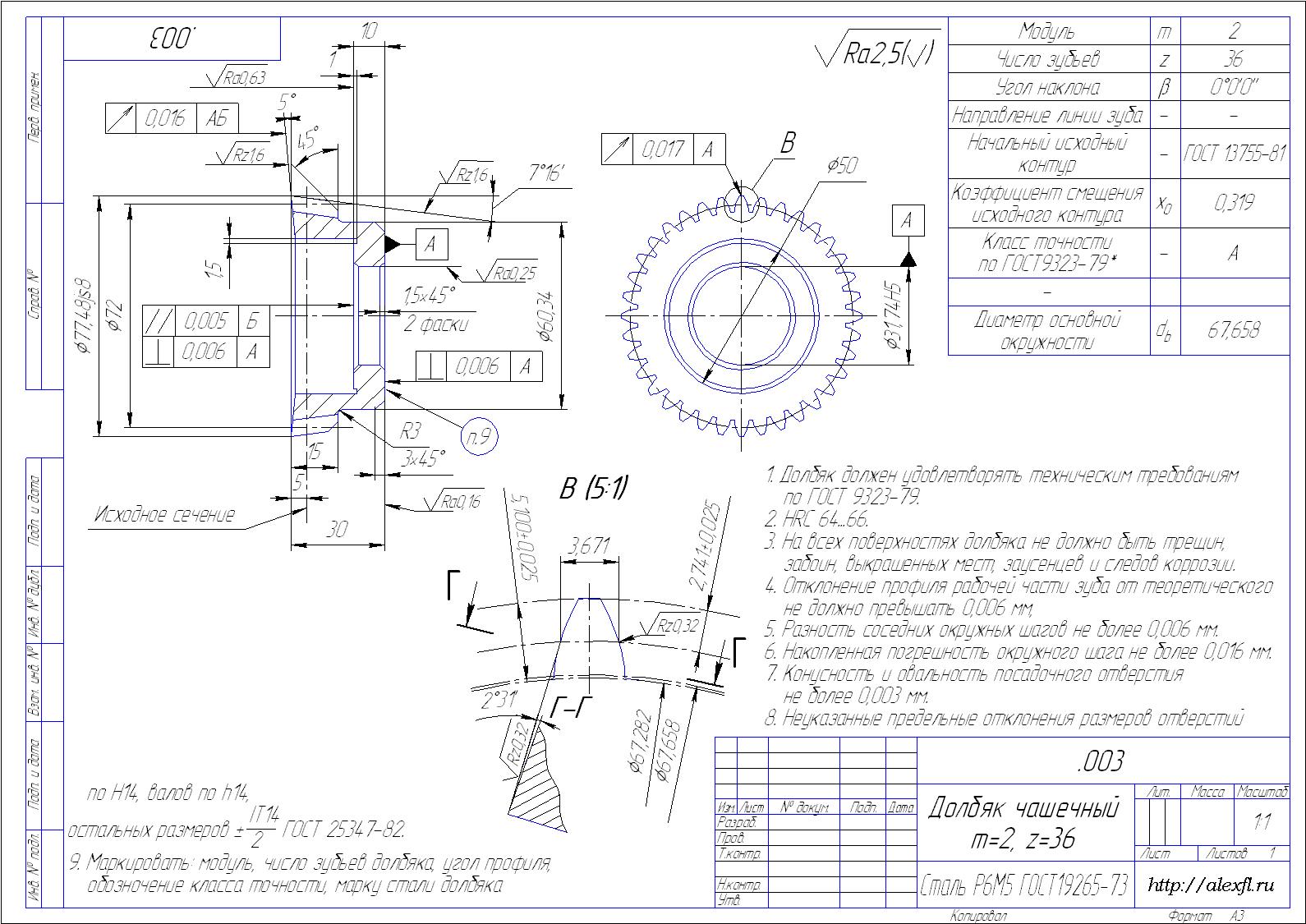 Шнек чертеж
