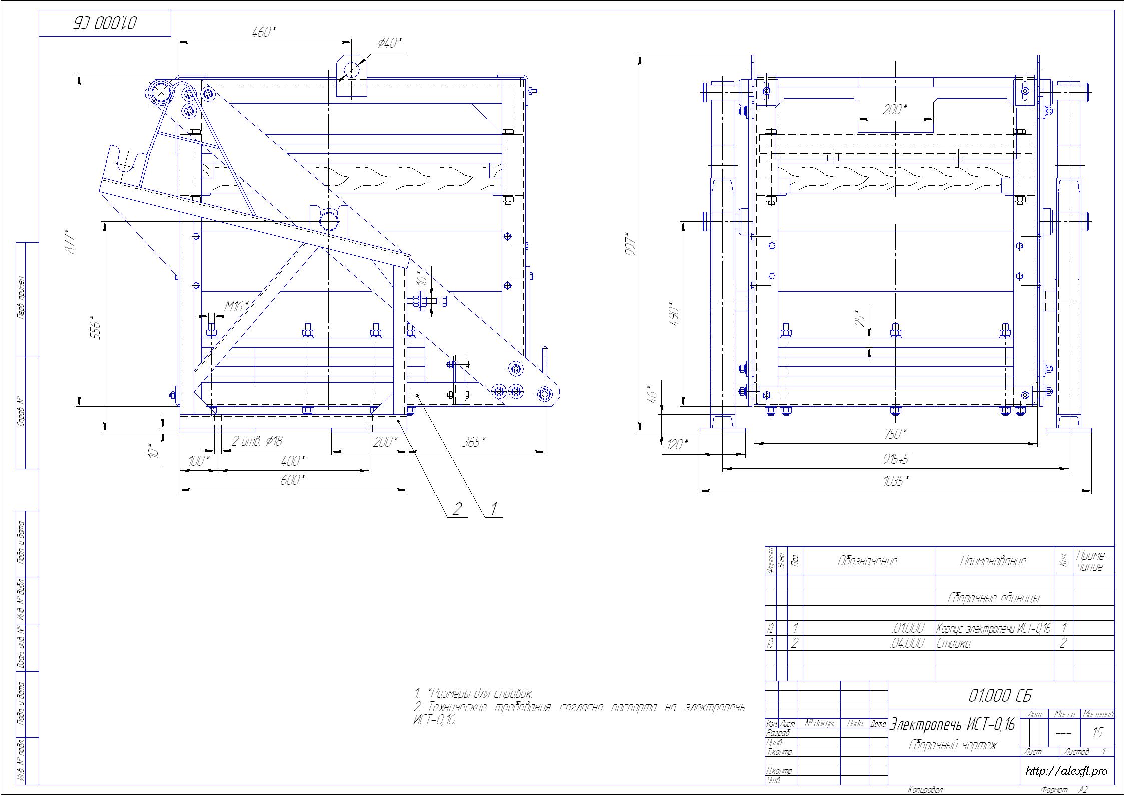 Схема футеровки вращающейся печи